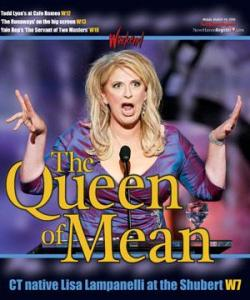 "Lisa Lampanelli's poster for ""Queen of Mean"" tour."