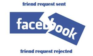 the Facebook form of rejection.