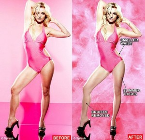 As if Britney really needs airbrushing...
