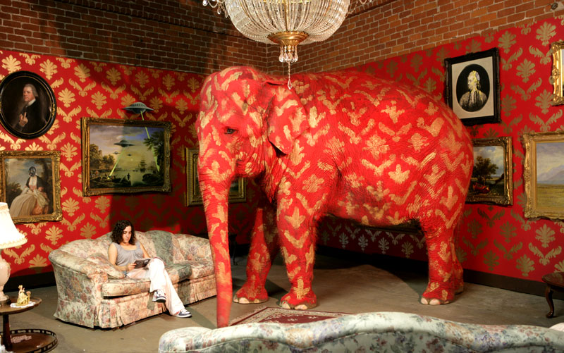 """Banksy's """"Elephant in the Room"""" exhibition"""
