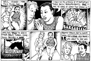Bechdel's Comic Strip
