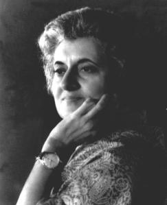M32gi. The Prime Minister, Smt. Indira Gandhi. (Caption not available)