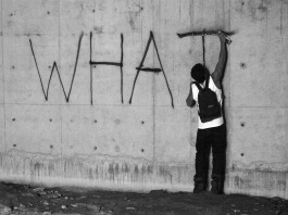 "graffiti of ""what"""