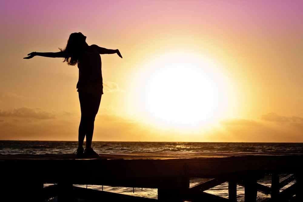 dawn sunset beach woman