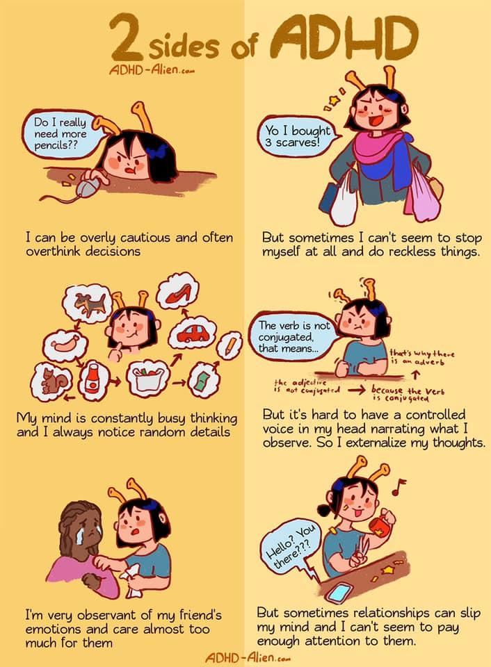2 sides of ADHD comic