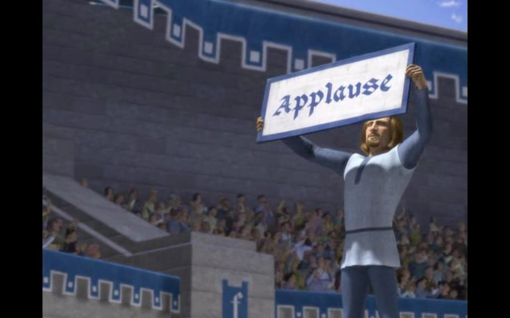 """Applause sign from """"Shrek"""""""